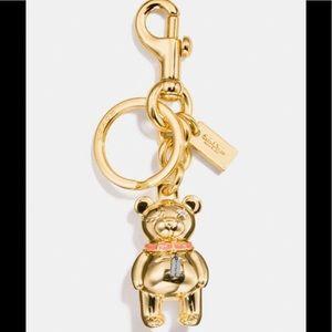 NWTComing Soon Coach 3D Bear Keychain/Bag Charm ❤️
